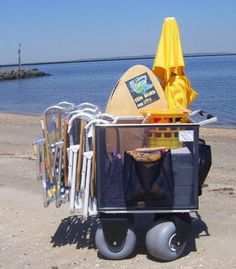 Beach cart -- easily transport your chairs, umbrella, toys, cooler, etc.