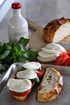 Caprese Panini. To make vegan; use fresh vegan mozzarella ( there are tons of recipes online).