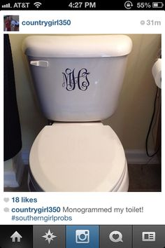 While we are on the topic of things that should not be monogrammed, remember this?  Yes, ladies and gentlemen. A monogrammed toilet.
