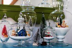 дом Деда Мороза в вазе