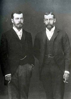 Tsarevich Nicholas Alexandrovich and Prince George of Wales