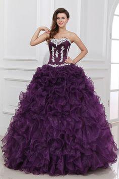 Outstanding Grape Sleeveless Sweetheart Ball Gown Prom Dresses $289.99