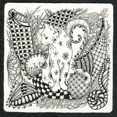 Cat Abstract Doodle Zentangle ZenDoodle Paisley Coloring pages colouring adult… Cat Coloring Page, Colouring Pages, Adult Coloring Pages, Coloring Books, Zentangle Drawings, Doodles Zentangles, Zentangle Patterns, Doodle Patterns, Silkscreen