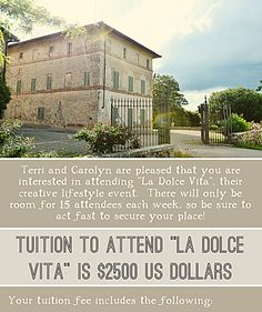 cool artist retreat - in Italy!!!!!!!!!!!!!!!!!!
