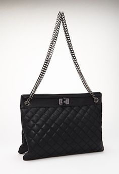 Quilted & Chained Tote | FOREVER 21 - 1000117274