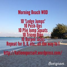 Anyone going to the beach soon? Use it to your WOD advantage! That slippery sand REALLY works your leg muscles, and believe us when we say you'll feel it in the morning.