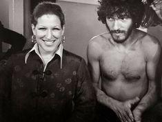 Bette Midler and Bruce Springsteen backstage at The Bottom Line, NYC #bettemidler #brucespringsteen #thebottomline #backstage