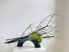 ikebana work by Elizabeth Angell the Director of the Victorian Branch of the Sogetsu School.