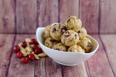 The crunch of the almonds and the sweet and tart, eye-opening flavor of the cranberries will have kids and adults like clamoring for these energy snacks!