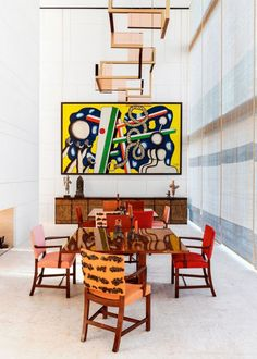 Art-Filled Home for Modern Luxury by Interior Designer Peter Marino Classic Dining Room, Luxury Dining Room, Dining Room Design, Dining Rooms, Luxury Interior Design, Interior Design Inspiration, Interior Decorating, Decorating Ideas, Architectural Digest