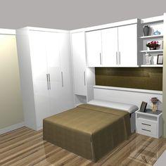 quarto casal pouco espaço muito armário - Pesquisa Google