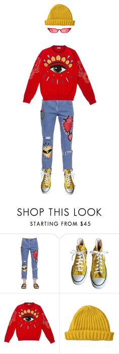 """""""superly duperly"""" by zarelice ❤ liked on Polyvore featuring House of Holland, Converse, Kenzo and Lowie"""