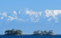 Tateyama Mountain Range from Himi City Japan Tourism, Toyama, Mountain Range, Mount Everest, Scenery, Mountains, City, Nature, Travel
