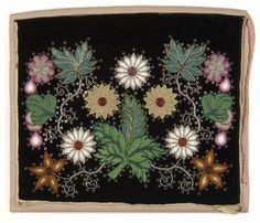Ojibwe beaded velvet loincloth - Created: not earlier than 1900 - not later than 1930.