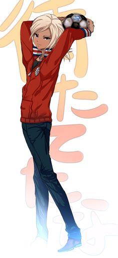 Axel blaze as Gouenji Shuuya