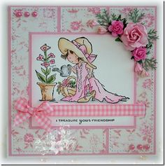I also love the Lily of the Valley stamps from England Cat Cards, Kids Cards, Greeting Cards, Girl Birthday Cards, Shabby Chic Cards, Angel Cards, Shaped Cards, Beautiful Handmade Cards, Lily Of The Valley