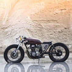 theshepdaddy:Stripped of all unnecessary parts, this Honda CB250 by @zadigmotorcycles looks like it's ready to rip. Sometimes less is more.  #croig #caferacersofinstagram