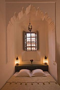 Beautiful Bedroom - Hotel Dar Hanane, Marrakesh, Morocco.