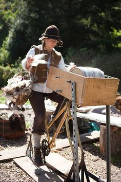Jolda's bicycle powered drum carder gives farmers & artisans direct ability to process wool affordably