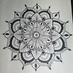 Mandala zentangle for blooming bush boutique.