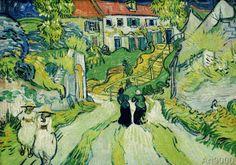 Vincent van Gogh - Stairway in Auvers
