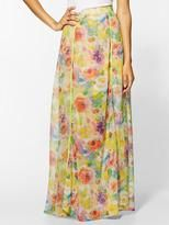 MAXI SKIRT-isabel lu watercolor floral maxi skirt