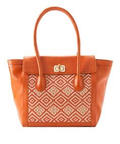 Take a look at this Shiraleah Orange Adrienne Satchel on zulily today!
