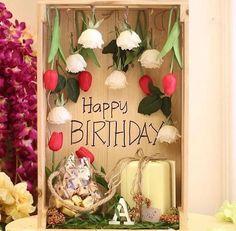 Flower Arrangement Designs, Flower Designs, Flower Arrangements, Flower Table Decorations, Valentine Decorations, Flower Box Gift, Flower Boxes, Applis Photo, Birthday Surprise Husband