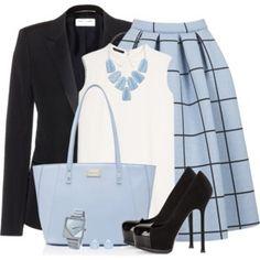 TOPSHOP Grid Print Midi Skirt