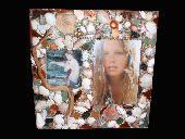 Shimmer... Pretty Little Things mermaid theme / seashell mixed media mosaic frame