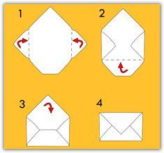 Envelope Diy, Origami Envelope, How To Make An Envelope, Homemade Envelopes, Pen Pal Letters, Diy Crafts Hacks, Diy Gifts For Boyfriend, Diy Birthday, Valentines Diy