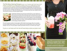 Catering Brochure | Print design | Pinterest | Catering menu ...