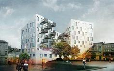 Architectura - Julien De Smedt ontwerpt twee residentiële wedstrijdconcepten voor Gentse binnenstad
