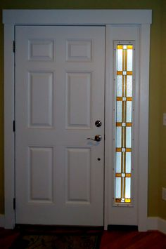 Stained Gl Art For Sidelight Privacy In Door Way Entryway
