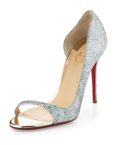 Christian Louboutin - Toboggan Glitter 100mm Red Sole Pump
