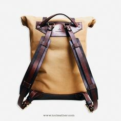Brown Leather Backpack, Leather Bag, Tote Backpack, Leather Projects, Cloth Bags, Leather Craft, Bag Accessories, Aradia, Baggage