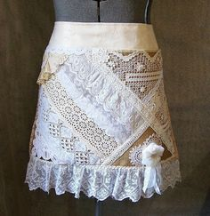 Lace & Burlap.  Not sure if this is a skirt or an apron, sure is cute.
