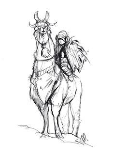 charliebowater: saharaam: Day 3, Llama rider! Love this!