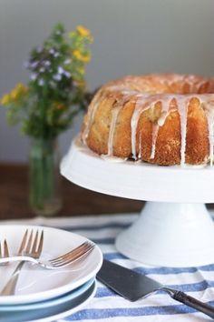lemon buttermilk rhubarb cake from Rustic Fruit Desserts