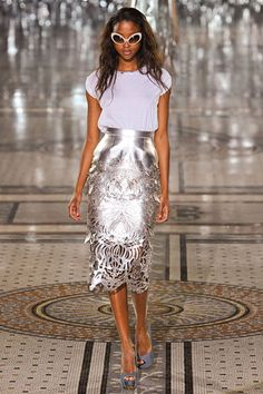Metallic cutout skirt! Giles Deacon Spring 2012 RTW
