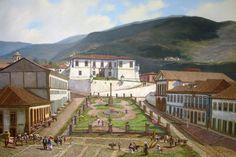"""""""Praça Tiradentes, cerca de 1885"""" (Ouro Preto) de José Rosário"""