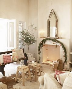 Maybe I need to put a garland & lights across stair landing beam going up to our loft.