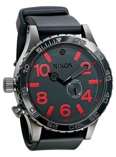 Nixon Watch black/gunmetal/red