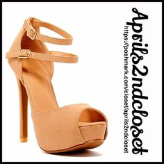 "SANDALS High Heels Ankle Strap Sandals SANDALS High Heels Ankle Strap Sandals Retail: $90 NEW WITH TAGS   * Open peep toe style & strappy vamp.  * Approx. 5.25"" stiletto heel & 1""  * Dual Ankle strap w/ buckle closures  * Gold tone hardware.  * True to size Material: Manmade upper & sole.  Color: Nude Item:   No Trades ✅ Offers Considered*✅ *Please use the blue 'offer' button to submit an offer. Boutique Shoes Sandals"
