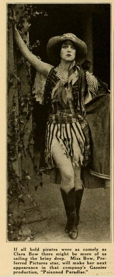 Clara Bow costumed, many patterns, black and white film gave sewers some massive luxury!