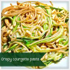 Crispy courgette pasta