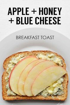 Sliced Apple + Honey + Blue Cheese... I'd add walnuts to mine and maybe agave instead of honey.. So much lighter