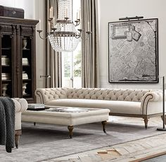That couch! Islington Chesterfield Upholstered Sofa -Restoration Hardware