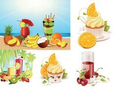 Vector summer ice cream drinks
