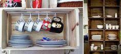 decoração com caixas de madeira - Pesquisa do Google